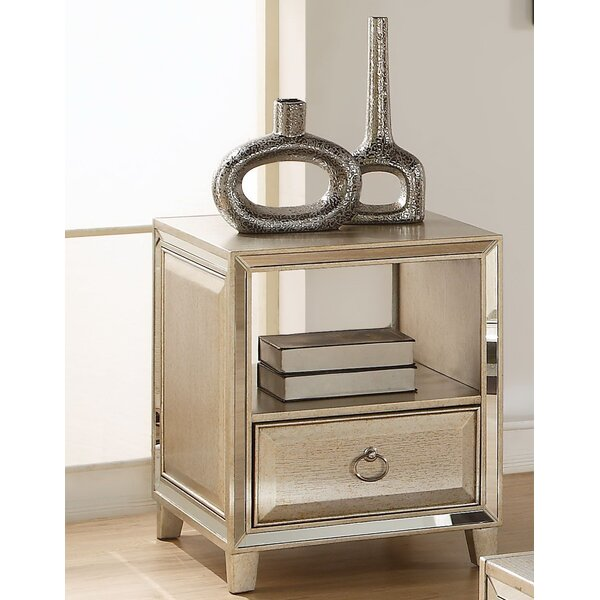 Leanora End Table with Storage by Andrew Home Studio