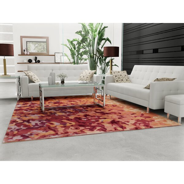 Ayanna Salmon/Coral Area Rug by Orren Ellis