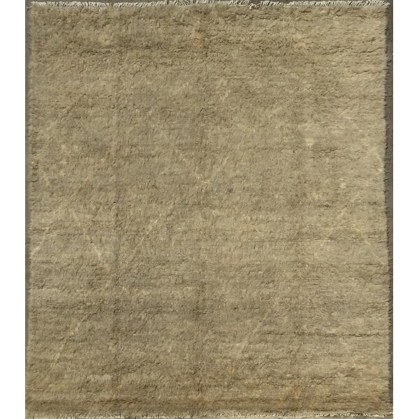 Moroccan Hand-Knotted Taupe Area Rug by Pasargad