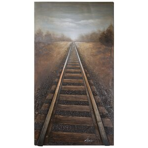 Revealed Artwork Vanishing into The Distance Painting on Wrapped Canvas by Yosemite Home Decor