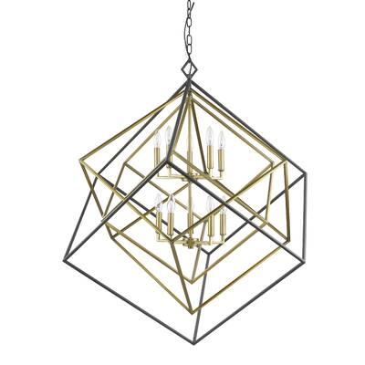 Brayden Studio Pederson 10 Light Geometric Chandelier