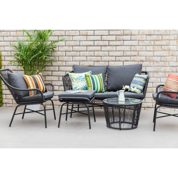 Sparks Outdoor 5 Piece Sofa Seating Group with Cushions by Ivy Bronx
