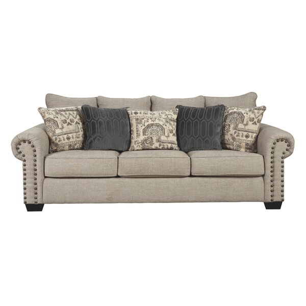 Review Brenham 92'' Rolled Arm Sofa