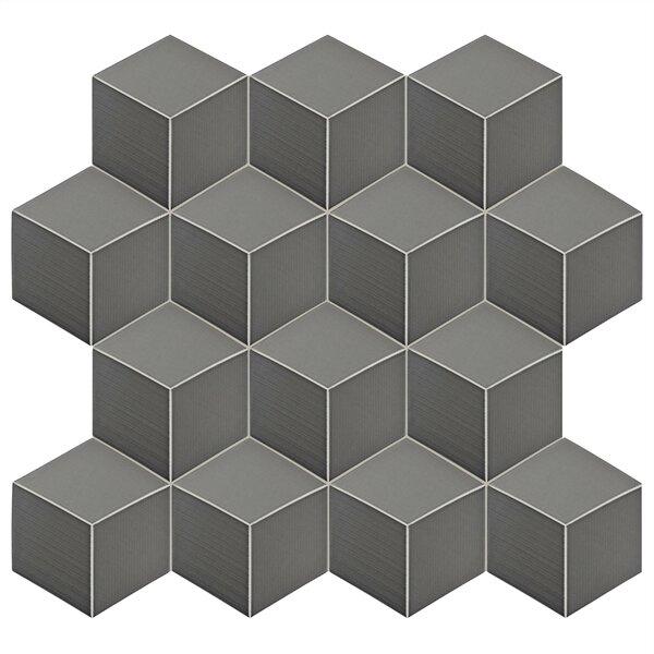 Concrete 8.88 x 10.13 Porcelain Field Tile in Gray by EliteTile