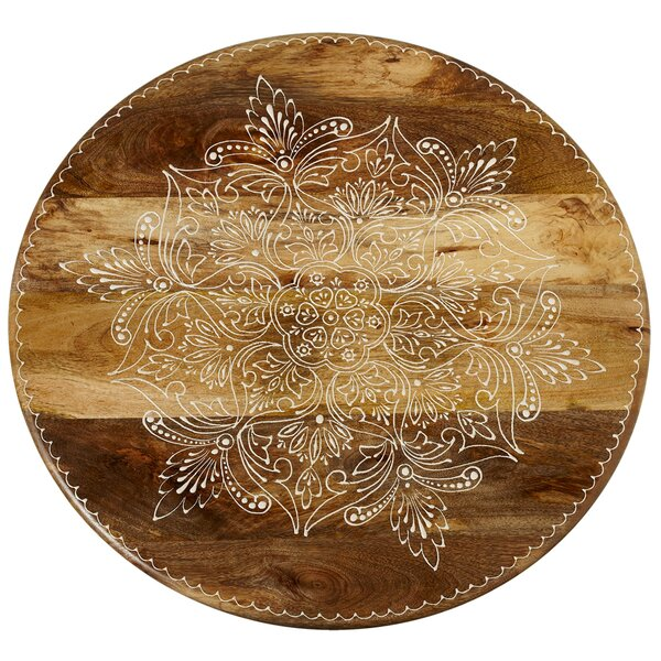 Duval Handpainted Floral Lazy Susan by Bungalow Rose