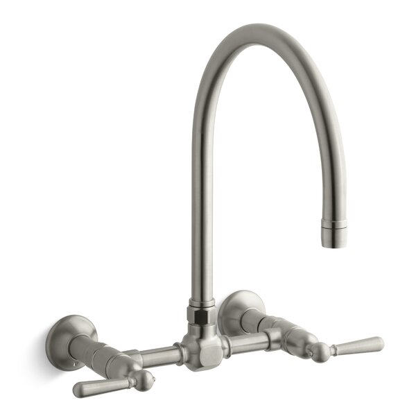 Hirise Double Handle Kitchen Faucet by Kohler