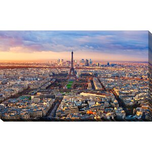 'Paris Rooftops' Photographic Print on Wrapped Canvas by Picture Perfect International
