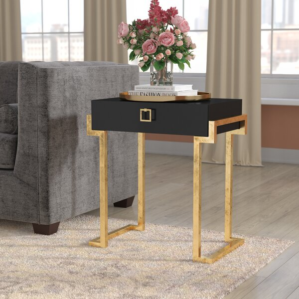 Neria Sled End Table With Storage By Willa Arlo Interiors
