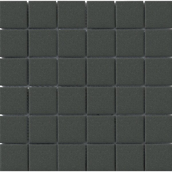 Urban Unglazed 2 x 2 Porcelain Mosaic Tile in Black by Walkon Tile