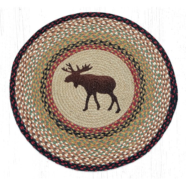 Moose Printed Area Rug by Earth Rugs