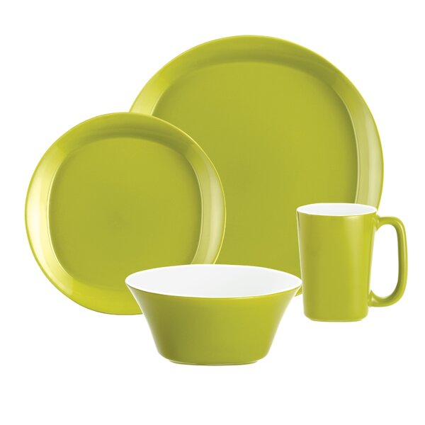 Round & Square 4 Piece Place Setting Set, Service for 1 by Rachael Ray
