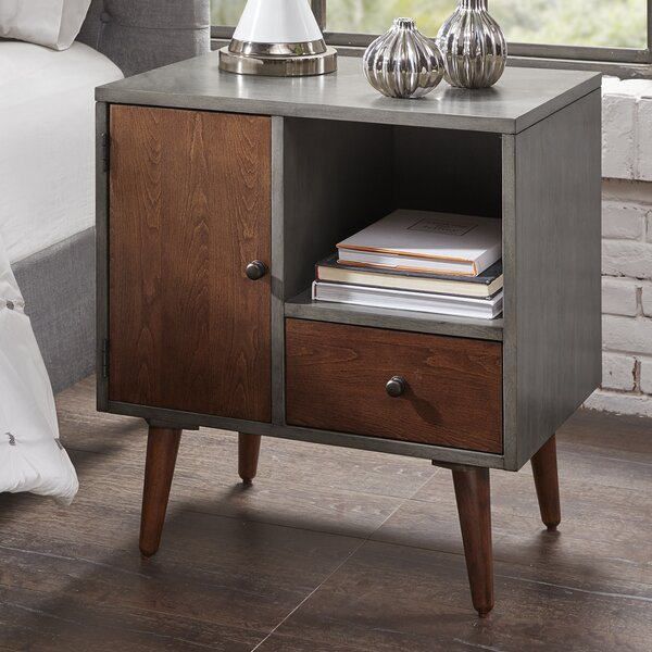 Muhammad Storage 1 Drawer Nightstand by Corrigan Studio