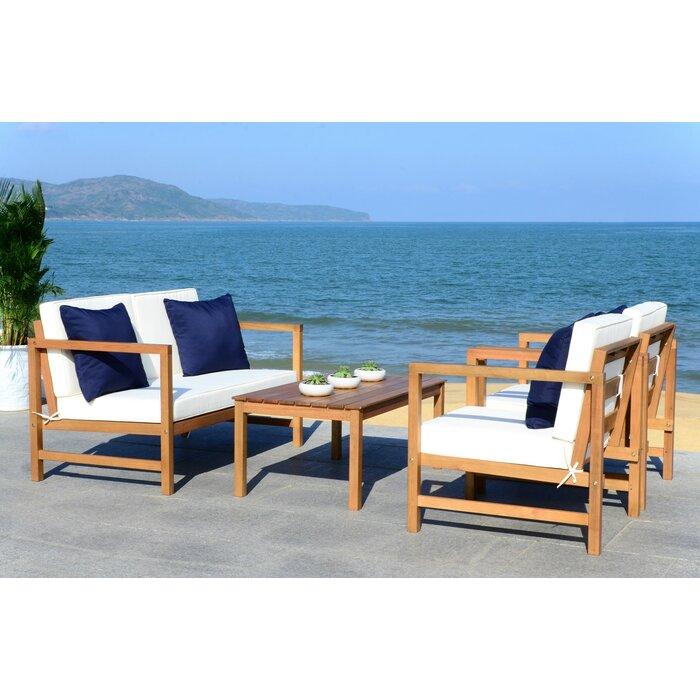Phenomenal Crocett 4 Piece Sofa Seating Group With Cushions Spiritservingveterans Wood Chair Design Ideas Spiritservingveteransorg