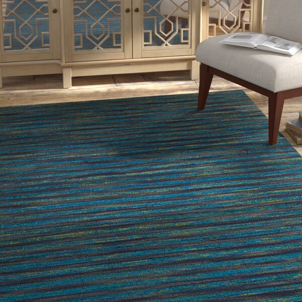 Vanderbilt Hand Woven Silk Blue Area Rug by Bloomsbury Market