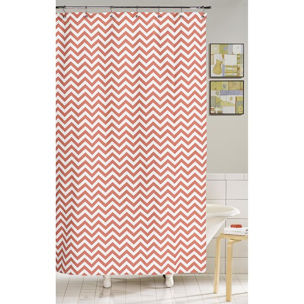 Chevron Cotton Shower Curtain by Liz and Roo Fine Baby Bedding