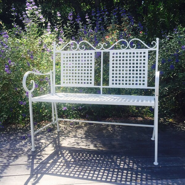 Isaacs Metal Garden Bench by August Grove
