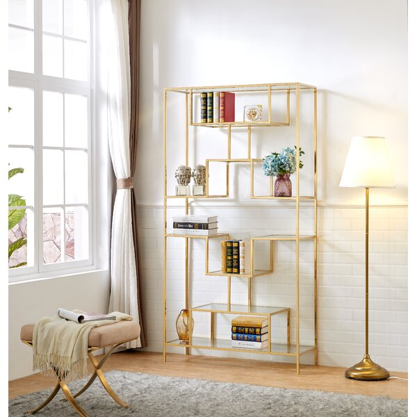 Lawrence Hill Tall Etagere Bookcase by Everly Quinn