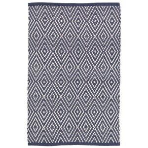 Diamond Blue/White Indoor/Outdoor Area Rug