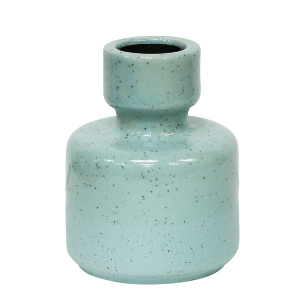 Turquoise Ceramic Candlestick by One Allium Way