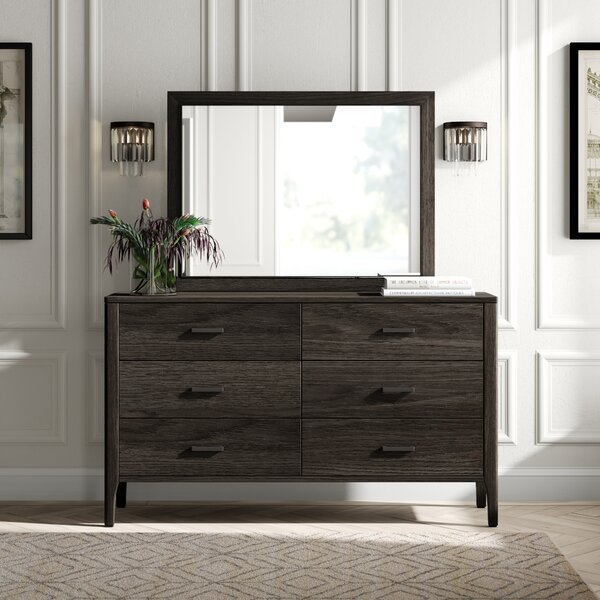 Albertina 6 Drawer Chest with Mirror by Greyleigh