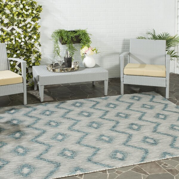 Mcguffin Gray/Blue Indoor/Outdoor Area Rug by Brayden Studio
