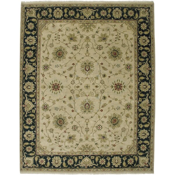 Cowen Beige/Ebony Area Rug by Alcott Hill