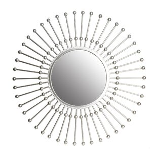 Wrought Studio Hadfield Beaded Sunburst Wall Mounted Mirror