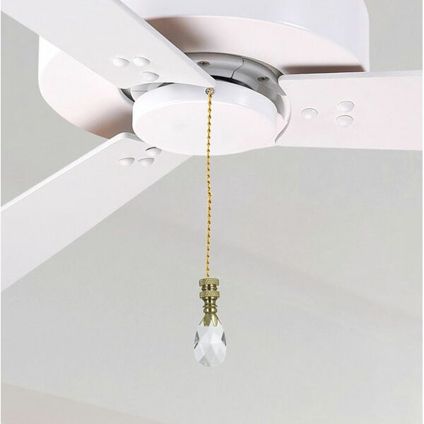 Fan Pull Chain with Teardrop Crystal Finial by Royal Designs