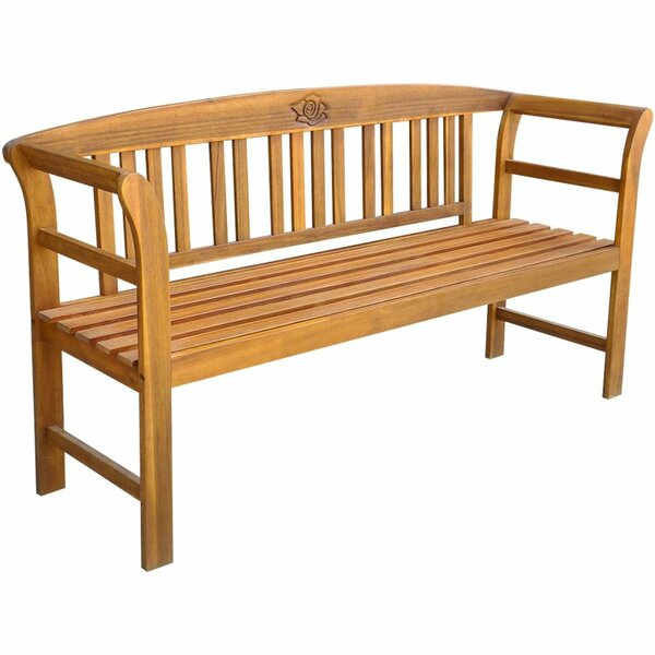 Wooden Garden Bench by East Urban Home East Urban Home