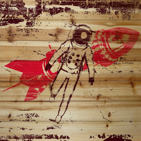 Rocket Man Painting Print on Wood by Marmont Hill