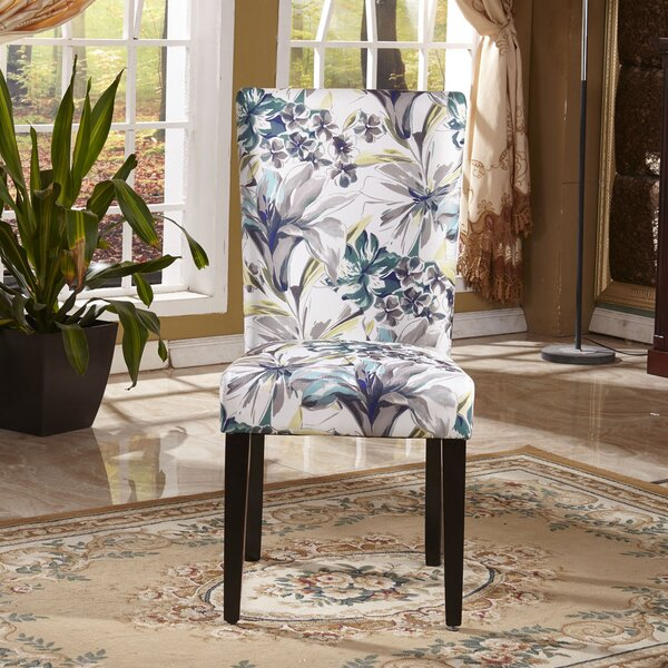 Elegant Floral Upholstered Dining Chair (Set of 2) by Bellasario Collection