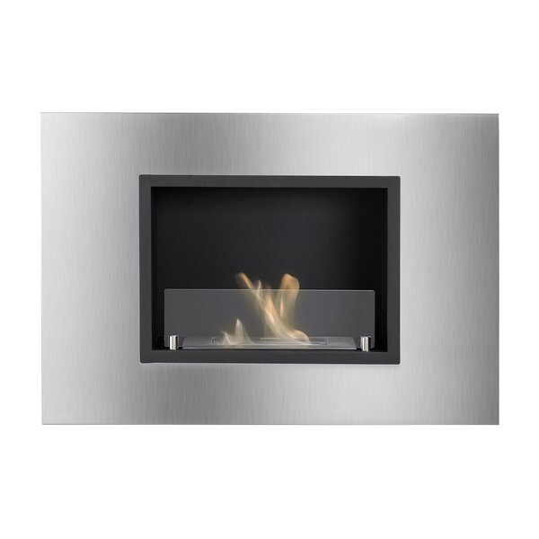 Geof Recessed Wall Mounted Ethanol Fireplace by Orren Ellis Orren Ellis