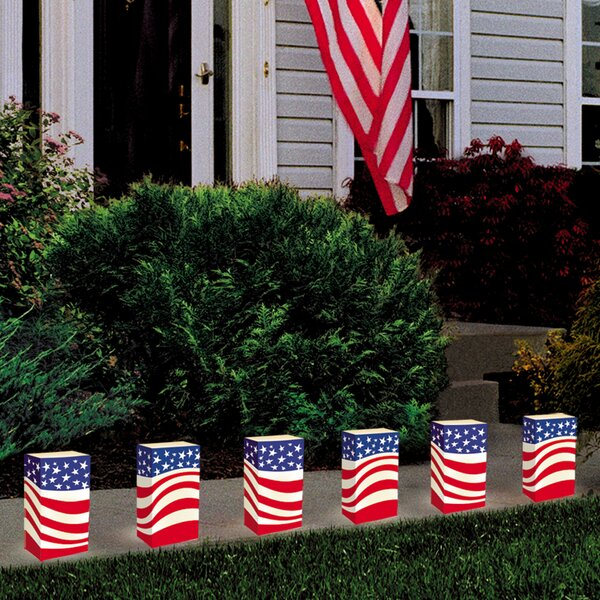 Americana Flame Resistant Luminarie Bags (Set of 12) by Luminarias