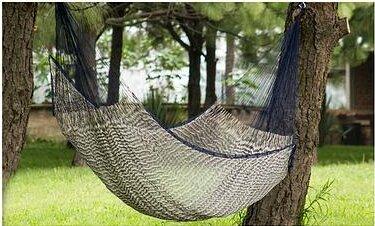 Unique Rope Nylon Camping Hammock by Novica