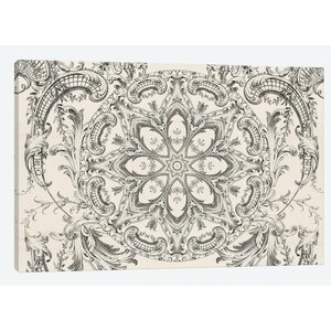 Mandala Series: Scrollwork Daydreams Graphic Art on Wrapped Canvas by East Urban Home