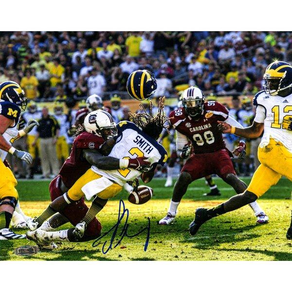Jadeveon Clowney NCAA Hit vs Michigan Signed Photographic Print by Steiner Sports