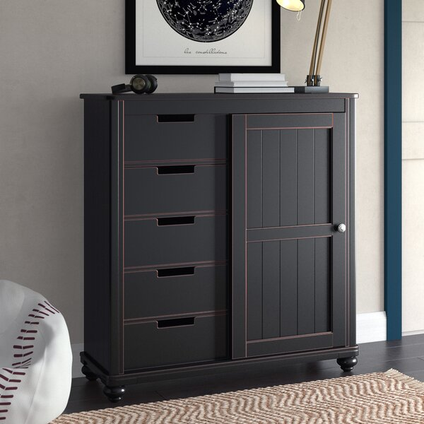 Leyla 5 Drawers Combo dresser by Grovelane Teen