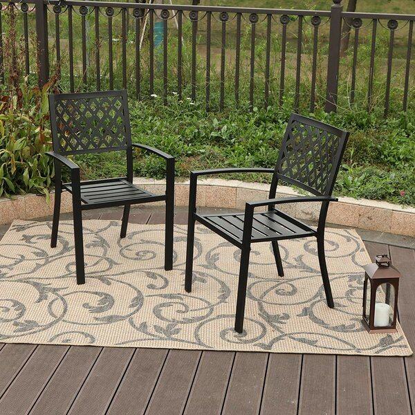 Aubina Stacking Patio Dining Chair (Set Of 2) By Winston Porter