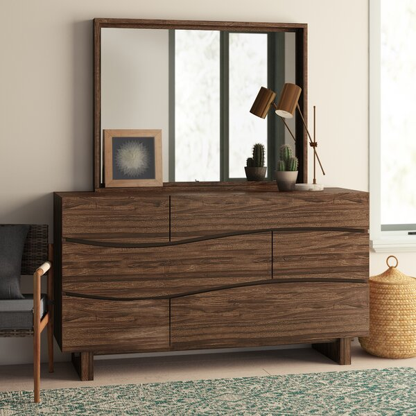 Hiram 6 Drawer Dresser with Mirror by Mistana