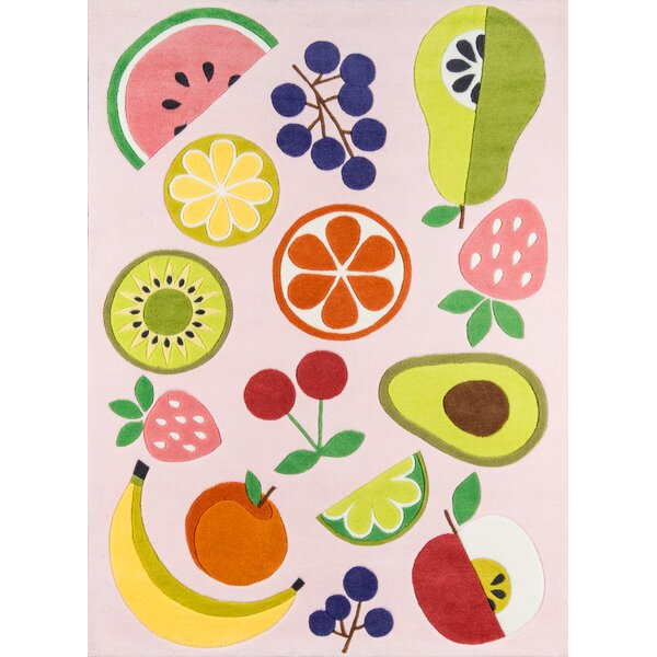 Vintage Fruit Hand-Tufted Pink Area Rug by Novogratz