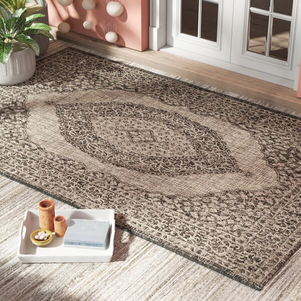 Myers Gray/Black Indoor/Outdoor Area Rug by Mistana