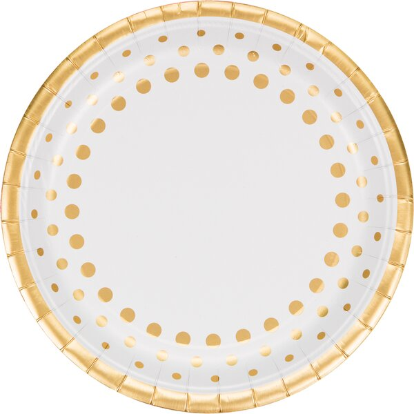 Sparkle and Shine Gold Banquet Paper Dinner Plate (Set of 24) by Creative Converting