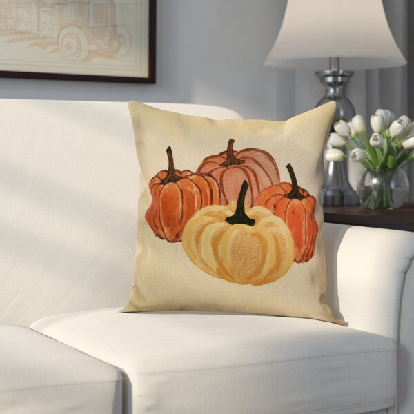 Miller Paper Mache Pumpkins Geometric Throw Pillow by Alcott Hill