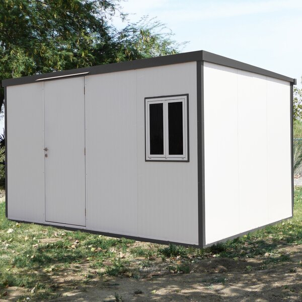 Flat Top Insulated 13 ft. 6 in. W x 10 ft. 7 in. D Metal Lean-To Storage Shed by Duramax Building Products