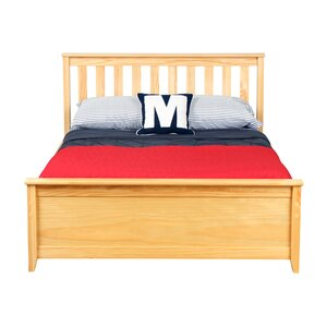 Solid Wood Full Platform Bed with Under Bed Storage Drawer