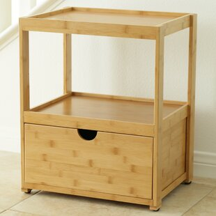 Natural Bamboo Corner End Table by In This Space