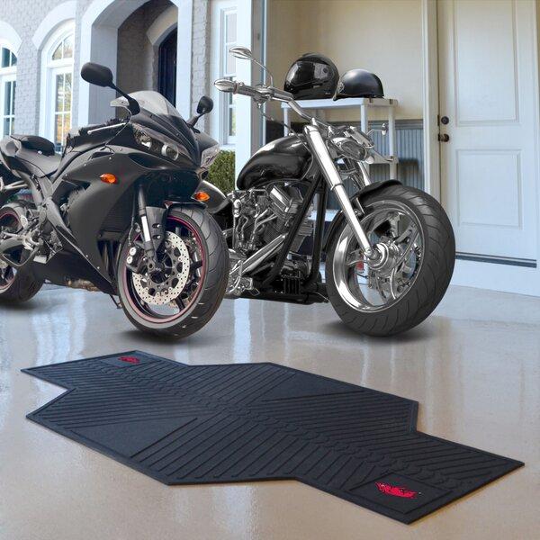 NCAA University of Arkansas Motorcycle Motorcycle Garage Flooring Roll in Black by FANMATS