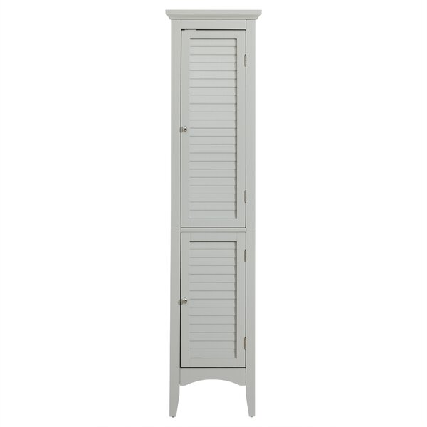 Glancy 15 W x 63 H Linen Tower by Elegant Home Fashions