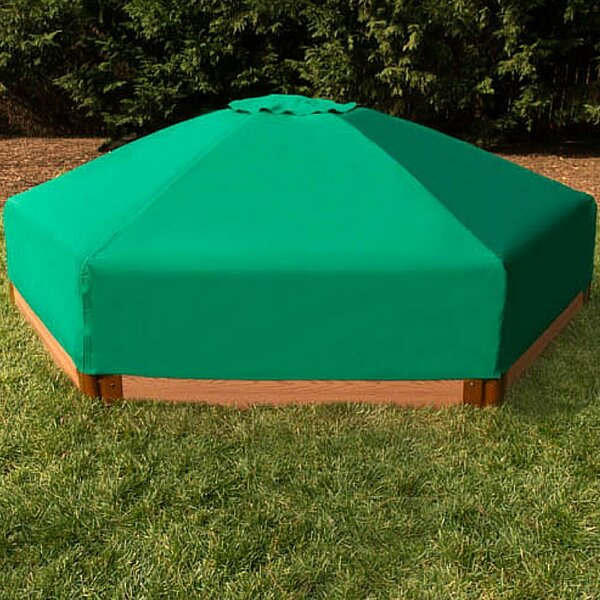 Two Inch Series 7 ft. Hexagon Sandbox with Cover by Frame It All