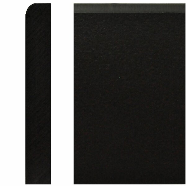 5/8 in. x 4 in. x 8 ft. Black Plastic Base Durobase Moulding by Manor House